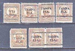 U.S. 684    Perf. 11 X 10 1/2   (o)   FLORIDA  STATE    1930  Issue - Precancels