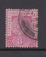 Malaysia-Straits Settlements SG 96 1895 Queen Victoria 3c Carmine Rose,used - Straits Settlements