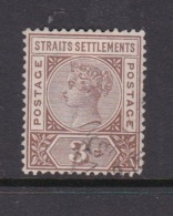 Malaysia-Straits Settlements SG 97 1892 Queen Victoria3c Brown,used - Straits Settlements
