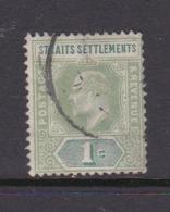 Malaysia-Straits Settlements SG 110 1902 King Edward VII,1902  1c Green,used - Straits Settlements