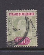 Malaysia-Straits Settlements SG 118 1902 King Edward VII,1902  50c Deep Green And Carmine,used - Straits Settlements