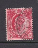 Malaysia-Straits Settlements SG 153 1908 King Edward VII 3c Red,used - Straits Settlements