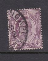 Malaysia-Straits Settlements SG 155 1910 King Edward VII 4c Dull Purple,used - Straits Settlements