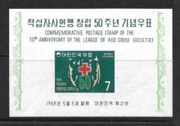 COREE DU SUD 1969 CROIX-ROUGE YVERT N°B155 NEUF MNH** - Croce Rossa