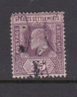 Malaysia-Straits Settlements SG 161 1909 King Edward VII 25c Dull And Bright Purple,used - Straits Settlements