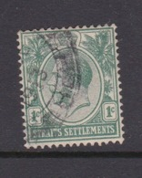 Malaysia-Straits Settlements SG 193 1912 King George V 1c Green,used - Straits Settlements