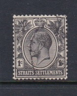Malaysia-Straits Settlements SG 218 1922 King George V 1c Black,used - Straits Settlements