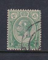 Malaysia-Straits Settlements SG 219 1921 King George V 2c Green,used - Straits Settlements