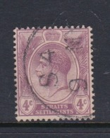 Malaysia-Straits Settlements SG 223 1924 King George V 4c Bright Violet,used - Straits Settlements