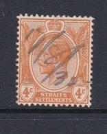 Malaysia-Straits Settlements SG 224 1929 King George V,4c Orange,used - Straits Settlements