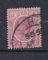 Malaysia-Straits Settlements SG 227 1922 King George V 6c Claret,used - Straits Settlements