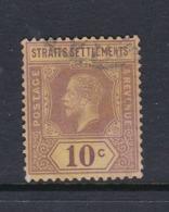 Malaysia-Straits Settlements SG 231 1926 King George V 10c Purple Yellow,used - Straits Settlements