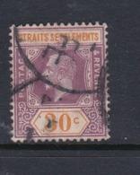 Malaysia-Straits Settlements SG 235 1921 King George V 30c Dull Purple And Orange,used - Straits Settlements