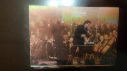 O) 2014 PARAGUAY,TENOR JORGE CASTRO - SINGER -ORCHESTRA DIRECTOR -MUSICAL INSTRUMENTS, SOUVENIR MNH - Paraguay