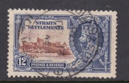 Malaysia-Straits Settlements SG 258 1935 Silver Jubilee,12c Brown And Deep Blue,used - Straits Settlements