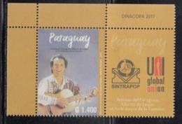 2017 Paraguay Sintrapop Music Guitar Complete Set Of 1 MNH - Paraguay