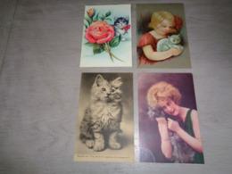Beau Lot De 20 Cartes Postales De Fantaisie  Chats  Chat  Mooi Lot 20 Postkaarten Van Fantasie Katten  Kat   -  20 Scans - 5 - 99 Cartes