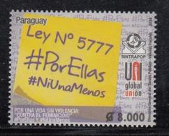 2018 Paraguay Stop Violence Against Women  Complete Set Of 1 MNH - Paraguay