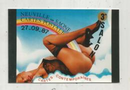 Cp, Bourses & Salons De Collections, 3 E Salon De Cartes Postales,1987 ,NEUVILLE SUR SAONE ,vierge , N° 5 SUR 30 EX. - Sammlerbörsen & Sammlerausstellungen