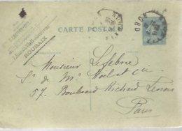 CARTE POSTALE  1931 ROUBAIX - Enteros Postales