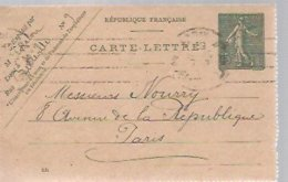 CARTE LETTRE  1919 - Enteros Postales