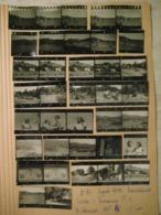 37 PROVINI FOTO SU FOGLIO 1949 PIAMPALUDO PAESAGGI  DONNE STEMMI CASE E ALTRO - Places