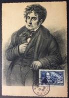 CM141 Carte Maximum 816 Chateaubriand Portrait Malouins Célèbres Saint Malo 18/7/1948 - Cartas Máxima