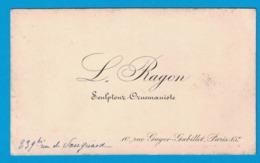 L. BAYON SCULPTEUR ORUEMANISTE 10 RUE GAGER-GABILLOT PARIS - Cartes De Visite