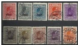 YU 1928-212-21 DEFINITVE, YUGOSLAVIA, 10v, Used - 1919-1929 Koninkrijk Der Serviërs, Kroaten En Slovenen