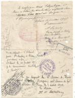CORRESPONDANCE  MILITAIRE TRAITEMENT VILLE DE PARIS 12.6.1915 ORLEANS + HOPITAL TEMPORAIRE N°22 RODEZ AVEYRON - Marcophilie (Lettres)
