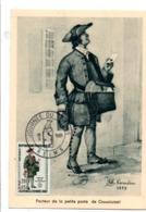 CARTE MAXIMUM MAXIMUM CARD JOURNEE DU TIMBRE 1961 REIMS - Cartes-Maximum