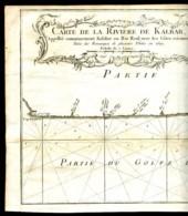 "BELLIN - Vers 1700 : ""CARTE De La RIVIERE DE KALBAR Appellée ... KALABAR Ou RIO REAL - Cartes Marines"