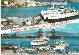 PARTENZA DA PIOMBINO PER L'ISOLA D'ELBA   (123) - Italia