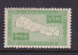 Nepal Scott 73 1954 Map 4p Green.mint Never Hinged - Nepal