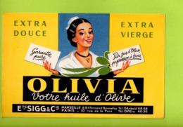 Buvard Publicitaire Huile D'Olive OLIVIA - Blotters