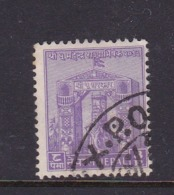 Nepal Scott 86 1956 Coronation Of King Mahendra ,8p Light Violet,used - Nepal
