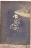 Photo Foto Hard Karton - Meisje Fille - Fotograaf Duhameeuw - Pacco - Ypres Ieper - Ancianas (antes De 1900)