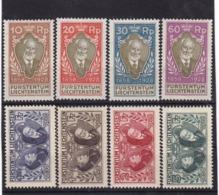 E.10505 Liechtenstein 1928 Full Set MLH, Michel 82 - 89: 70' Jubilee As Regent Of Prince Johann II. - Liechtenstein