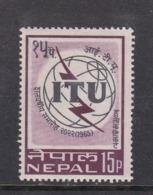 Nepal Scott 186 1965 ITU Centenary,Mint Never Hinged - Nepal