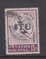 Nepal Scott 186 1965 ITU Centenary,used - Nepal