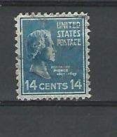 1938 FRANKLIN PIERCE 14 CENTS 14 OBLITÉRÉ DOS CHARNIÈRES - United States