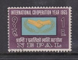 Nepal Scott 188 1965 International Coperation Year,used - Nepal