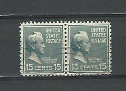 1938 SE - TENANT JAMES BUCHANAN 15 CENTS 15 OBLITÉRÉ - Vereinigte Staaten