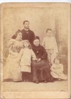 Photo Foto Hard Karton - Groupe Familiale - Famille - Photographe J. Gallizo - Pau - Mai 1897 - Photos