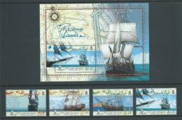 Pitcairn Islands 2005 Bounty Ship Replica Series II Set Of 4 & Miniature Sheet MNH - Stamps