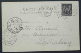SAINT GERMAIN DES PRES - LOIRET - SAGE / 1900 CPA POUR L EGYPTE (ref EP695) - 1898-1900 Sage (Type III)