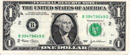 Billet 1 Dollar One Etats-Unis  Série 2003-2-B -Washingtone 1789 USA - - United States Of America