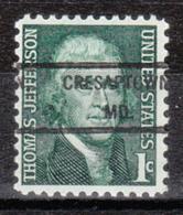 USA Precancel Vorausentwertung Preo, Locals Maryland, Cresaptown 807 - Vereinigte Staaten