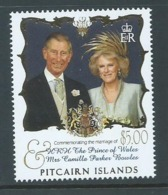 Pitcairn Islands 2005 Charles & Camilla Royal Wedding $5 Single MNH - Stamps
