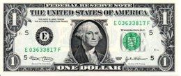 Billet 1 Dollar One Etats-Unis  Série 2003-5-E -Washingtone 1789 USA - - United States Of America